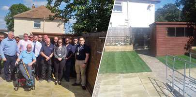 Amey works with supply chain to deliver Ground Force style makeover for ex-RAF Serviceman